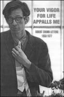 Your Vigour for Life Appalls Me: Robert Crumb Letters, 1958-77 (Paperback)