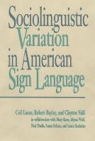Sociolinguistic Variation in American Sign Language (Hardback)