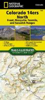 Colorado 14ers North [sawatch, Mosquito, And Front Ranges] Adventure Map (Sheet map, folded)
