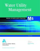 M5 Water Utility Management - Manual of Water Supply Practices (Paperback)