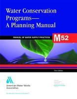 M52 Water Conservation Programs - A Planning Manual - Manual of Water Supply Practices (Paperback)