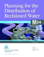 M24 Planning for the Distribution of Reclaimed Water - Manual of Water Supply Practices (Paperback)