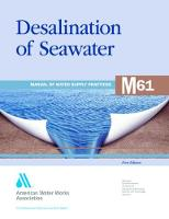 M61 Desalination of Seawater - Manual of Water Supply Practices (Paperback)