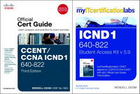 CCENT/CCNA ICND1 640-802 Official Cert Guide with MyITCertificationLab Bundle V5.9