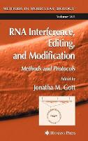 RNA Interference, Editing, and Modification: Methods and Protocols - Methods in Molecular Biology 265 (Hardback)