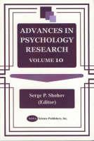 Advances in Psychology Research: Volume 10 (Hardback)