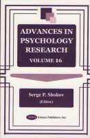 Advances in Psychology Research: Volume 16 (Hardback)