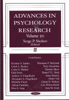 Advances in Psychology Research: Volume 20 (Paperback)