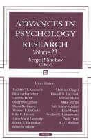 Advances in Psychology Research: Volume 23 (Hardback)