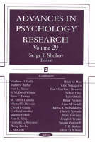 Advances in Psychology Research: Volume 29 (Hardback)