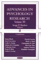 Advances in Psychology Research: Volume 30 (Hardback)