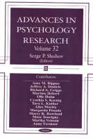Advances in Psychology Research: Volume 32 (Hardback)