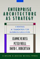 Enterprise Architecture As Strategy: Creating a Foundation for Business Execution (Hardback)
