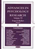 Advances in Psychology Research: Volume 33 (Hardback)