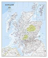 Scotland Classic, Laminated: Wall Maps Countries & Regions (Sheet map)