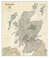 Scotland Executive, Laminated: Wall Maps Countries & Regions (Sheet map)