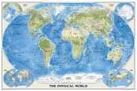 The Physical World, Poster Size, Tubed: Wall Maps World (Sheet map, rolled)