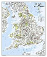 England And Wales Classic, Laminated: Wall Maps Countries & Regions (Sheet map)