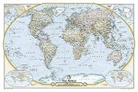 National Geographic Society 125th Anniversary World Map Laminated: Wall Maps Countries & Regions (Sheet map)