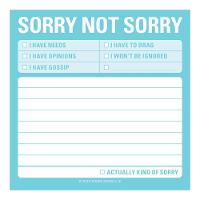 Sorry Not Sorry Sticky Note (Stickers)