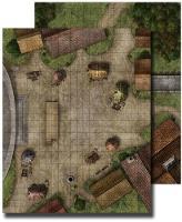 GameMastery Flip-Mat: Town Square (Paperback)