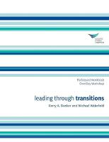 Leading Through Transitions Participant 1-Day Workbook (Paperback)