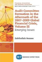 Audit Committee Formation in the Aftermath of 2007-2009 Global Financial Crisis, Volume III: Emerging Issues (Paperback)