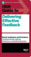 HBR Guide to Delivering Effective Feedback (HBR Guide Series) (Paperback)