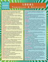 Legal Terminology and Definitions (Speedy Study Guide) (Paperback)