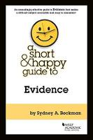 A Short & Happy Guide to Evidence - Short & Happy Guides (Paperback)