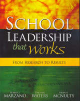 School Leadership That Works: From Research to Results (Paperback)