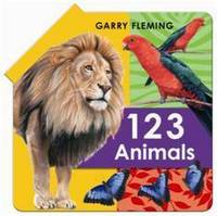 123 Animal Fold Out Book (Hardback)