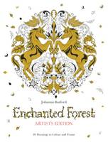 Enchanted Forest Artist's Edition: A Pull-Out and Frame Colouring Book (Paperback)