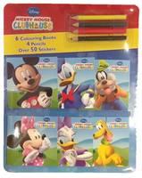 Disney Mickey Mouse Clubhouse Mini Colouring Books & Pencil Set