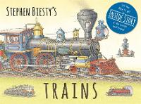 Stephen Biesty's Trains: Cased Board Book with Flaps - Stephen Biesty Series (Hardback)