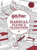 Harry Potter Magical Places & Characters Postcard Colouring Book