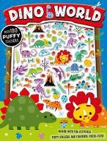 Dino World Puffy Sticker Activity Book (Paperback)