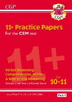 New 11+ CEM Practice Papers: Ages 10-11 - Pack 1 (with Parents' Guide & Online Edition) (Paperback)