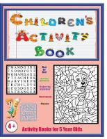 Activity Books for 5 Year Olds: An Activity Book with 120 Puzzles, Exercises and Challenges for Kids Aged 4 to 6 - Activity Books for 5 Year Olds 1 (Paperback)