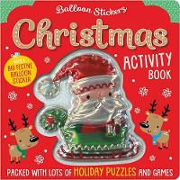 Christmas Balloon Sticker Activity Book (Paperback)