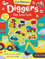 Felt Stickers Diggers Play Scene Book