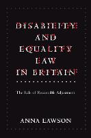 Disability and Equality Law in Britain: The Role of Reasonable Adjustment (Paperback)