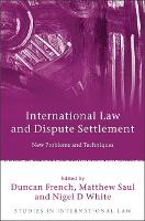 International Law and Dispute Settlement: New Problems and Techniques - Studies in International Law 28 (Hardback)