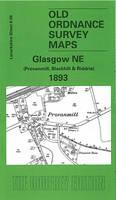 Glasgow (NE) 1893: Lanarkshire Sheet 6.12 - Old O.S. Maps of Lanarkshire (Sheet map, folded)