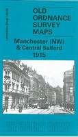 Manchester (NW) and Central Salford 1915: Lancashire Sheet 104.06 - Old O.S. Maps of Lancashire (Sheet map, folded)