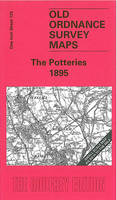 The Potteries 1895: One Inch Sheet 123 - Old Ordnance Survey Maps of England & Wales (Sheet map, folded)