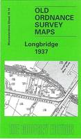 Longbridge 1937: Worcestershire Sheet 10.14 - Old Ordnance Survey Maps of Worcestershire (Sheet map, folded)