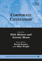Corporate Citizenship - Corporate Governance in the New Global Economy Series 14 (Hardback)
