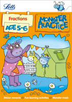 Fractions Age 5-6 - Letts Monster Practice (Paperback)