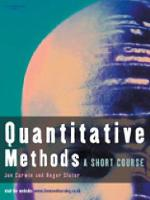 Quantitative Methods: Short Course (Paperback)